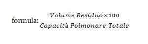 capacità polmonare formula