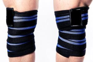 Fascia ginocchio sollevamento pesi
